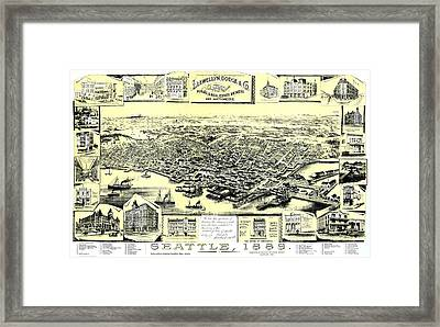 Seattle 1889 Framed Print by Mountain Dreams