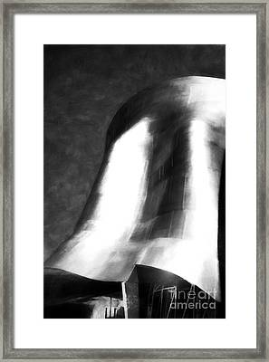 Seattle Art In Black And White Framed Print by Mel Steinhauer