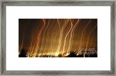 Seattle Burning At Night Framed Print by Silvie Kendall