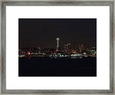 Seattle City Lights Framed Print by Kyle Wood