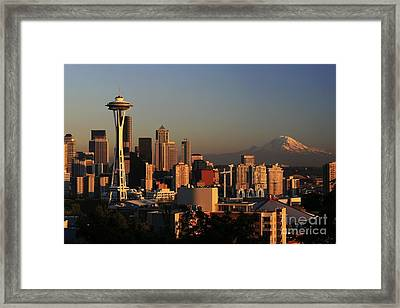 Seattle Equinox Framed Print by Winston Rockwell