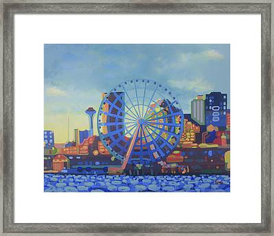 Seattle In Color  Framed Print by Tracy Roland