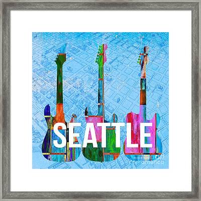 Seattle Music Scene Framed Print by Edward Fielding