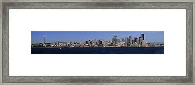 Seattle Panoramic Framed Print by Adam Romanowicz