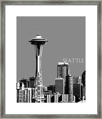 Seattle Skyline Space Needle - Pewter Framed Print by DB Artist