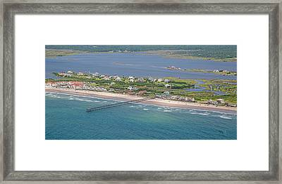 Seaview Fishing Pier Topsail Island Framed Print by Betsy C Knapp