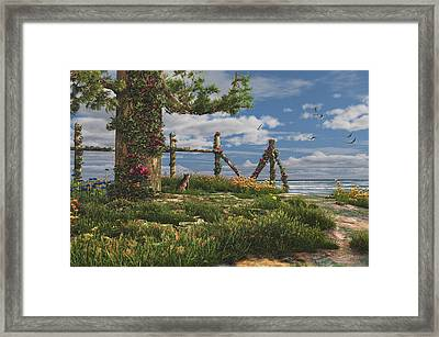 Seaview Retreat Framed Print by Mary Almond