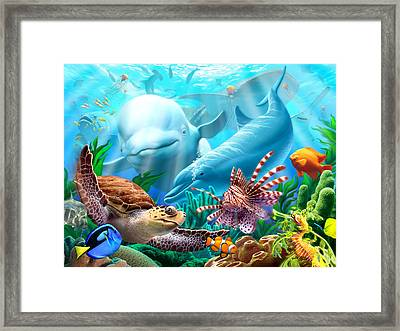 Seavilians Framed Print by Jerry LoFaro