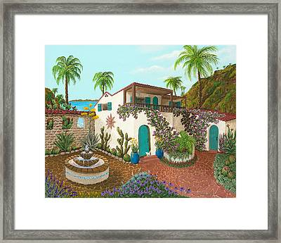 Secluded Paradise Framed Print by Katherine Young-Beck