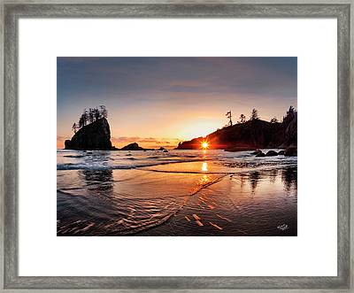 Second Beach 3 Framed Print by Leland D Howard