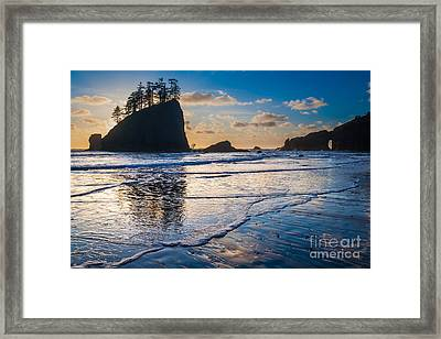 Second Beach Waves Framed Print by Inge Johnsson
