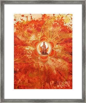 Second Chakra Framed Print by Joan Doyle