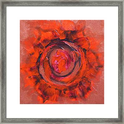 Second Chakra Framed Print by Mary Haas