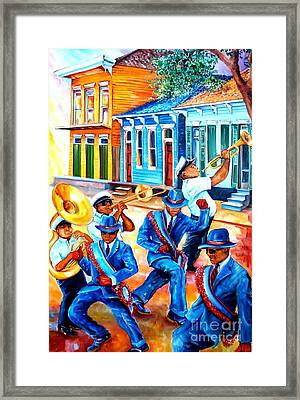 Second Line In Treme Framed Print by Diane Millsap