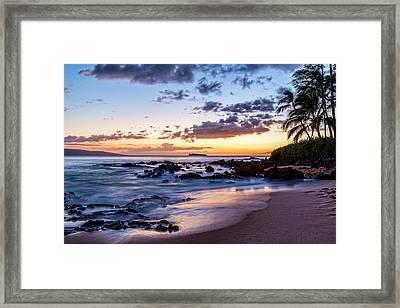 Secret Cove Framed Print by Kelley King