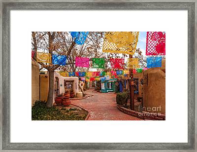 Secret Passageway At Old Town Albuquerque II - New Mexico Framed Print by Silvio Ligutti