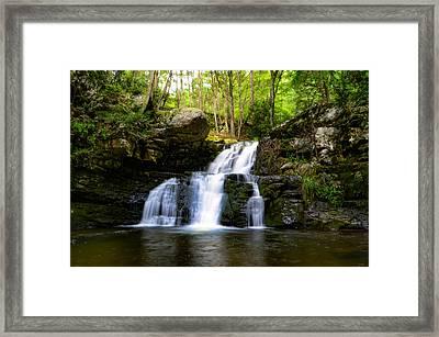Secret Waterfall - Sylvan Cascades Framed Print by Bill Cannon