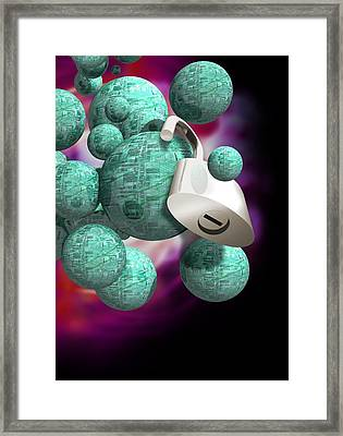 Security Technology, Conceptual Artwork Framed Print by Victor Habbick Visions