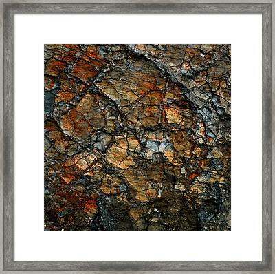 Sedimentary Abstract Framed Print by Dave Martsolf
