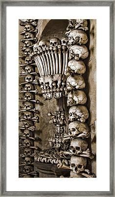 Sedlec Skeleton Chalice Framed Print by Heather Applegate
