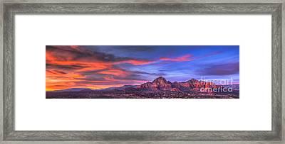 Sedona Arizona At Sunset Framed Print by Eddie Yerkish