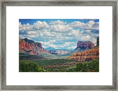 Sedona Arizona Landscape  Framed Print by Jennifer Rondinelli Reilly - Fine Art Photography