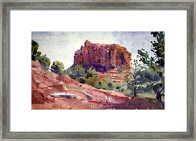 Sedona Butte Framed Print by Donald Maier