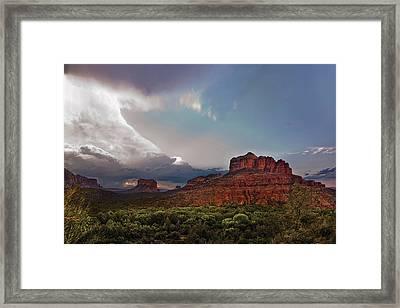 Sedona Drama Framed Print by Dave Dilli