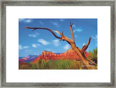 Sedona Red Rock Country Framed Print by Bob Salo