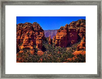 Sedona Rock Formations II Framed Print by David Patterson