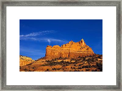 Sedona Smoke Signals Framed Print by Mike  Dawson