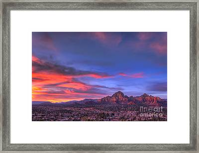 Sedona Sunset Framed Print by Eddie Yerkish