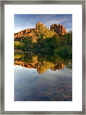 Sedona Sunset Framed Print by Mike  Dawson