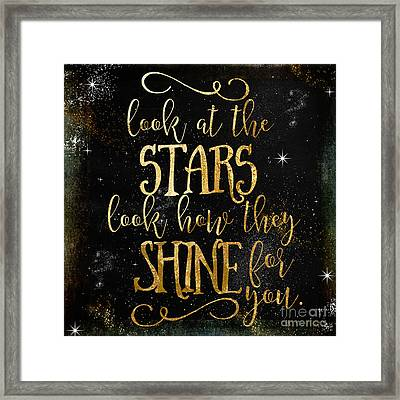 See How The Stars Shine Framed Print by Mindy Sommers
