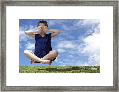 See No Evil Hear No Evil Speak No Evil Framed Print by Jeannie Burleson