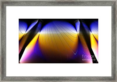 See Thru Shapes Framed Print by Ron Bissett