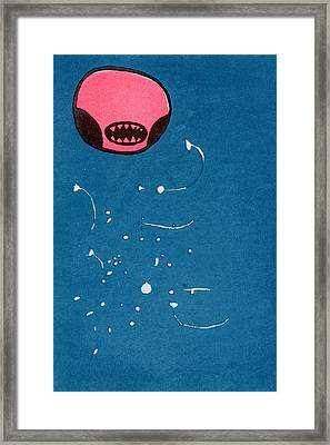 Seedpod Space Monster Framed Print by Bella Larsson