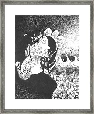 Seeing Light Framed Print by Helena Tiainen