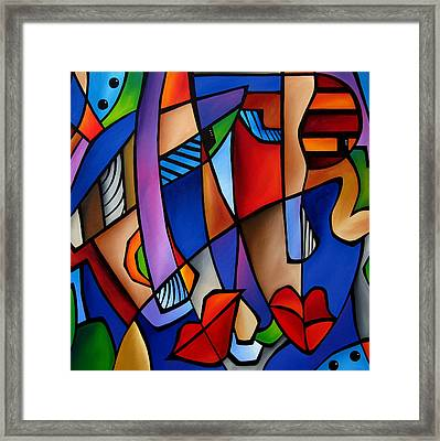Seeing Sounds - Abstract Pop Art By Fidostudio Framed Print by Tom Fedro - Fidostudio