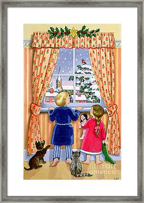 Seeing The Snow Framed Print by Lavinia Hamer