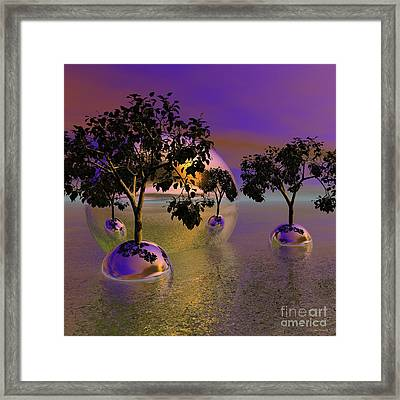 Seeking Higher Ground Framed Print by Wayne Bonney