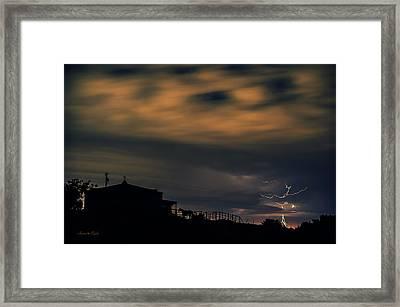 Seeking Shelter From The Storm Framed Print by Karen Slagle