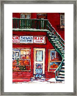 Segal's Market St.lawrence Boulevard Montreal Framed Print by Carole Spandau