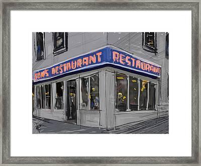 Seinfeld Restaurant Framed Print by Russell Pierce