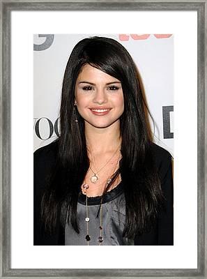 Selena Gomez At Arrivals For Seventh Framed Print by Everett
