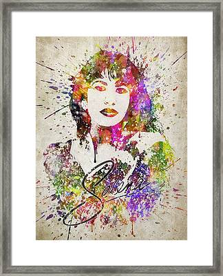 Selena Quintanilla In Color Framed Print by Aged Pixel