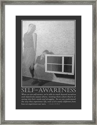 Self-awareness Framed Print by Jaeda DeWalt