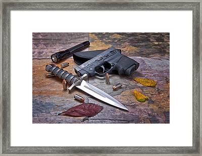 Self Defense Still Life Framed Print by Tom Mc Nemar
