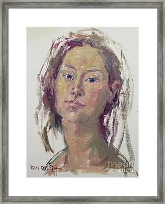 Self Portrait 1602 Framed Print by Becky Kim