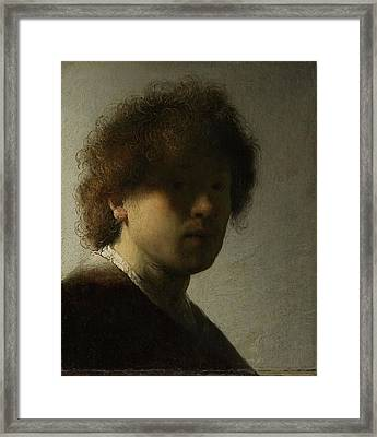 Self-portrait, 1628 Framed Print by Rembrandt Harmensz van Rijn